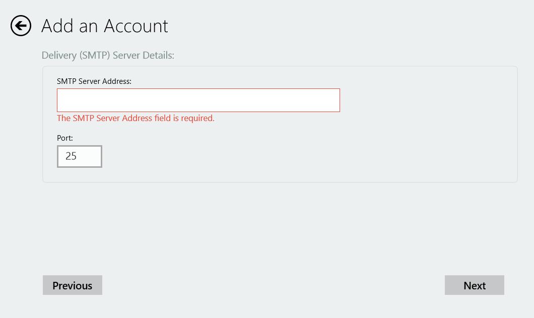 SMTP Wizard DeliveryServer Error